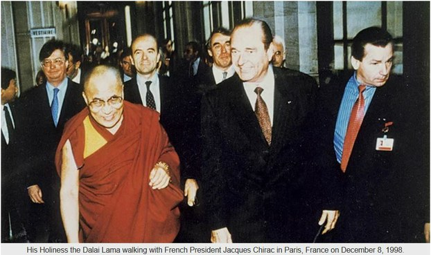 ༧གོང་ས་སྐྱབས་མགོན་ཆེན་པོ་མཆོག་དང་ཧྥ་རན་སིའི་སྲིད་འཛིན་སྐུ་ཞབས་(Jacques Chirac)་མཆོག ༡༩༩༨།༡༢།༨