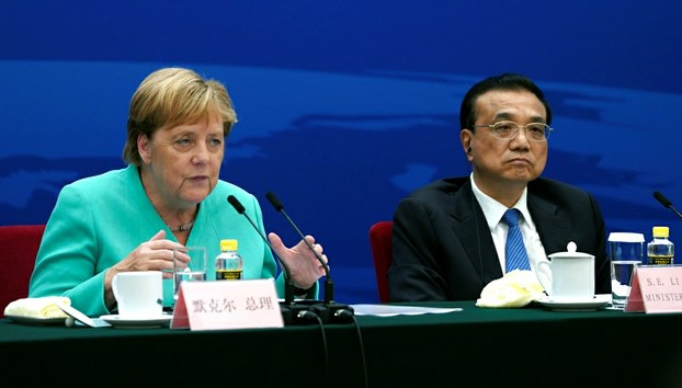 མཇར་མན་(Germany)་གྱི་སྲིད་བློན་ལྕམ་(Angela Merkel)་མཆོག་པེ་ཅིང་དུ། ༢༠༡༩།༩།༦